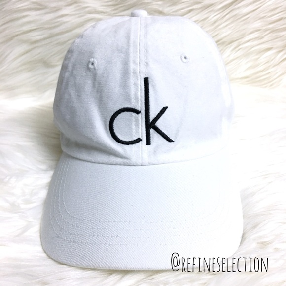 51674c3949c Calvin Klein CK White And Black Dad Hat Cap